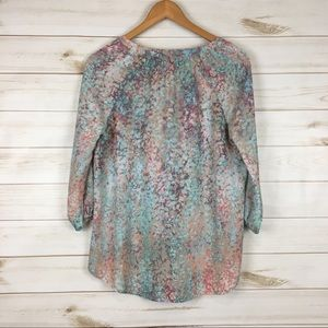 Cynthia Rowley Tops - 3/$30 High low peasant 3/4 sleeve pullover blouse